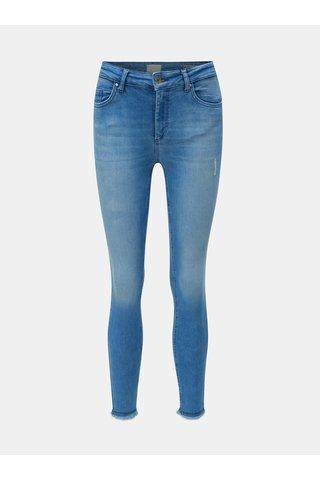 Modré skinny fit džíny s nezakončeným lemem ONLY Blush