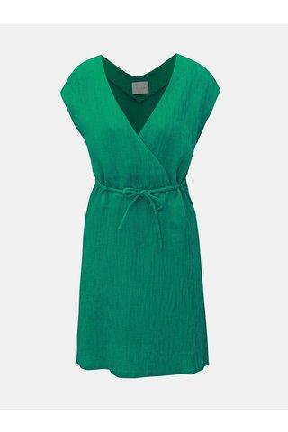 Zelené žebrované šaty VILA Chunny