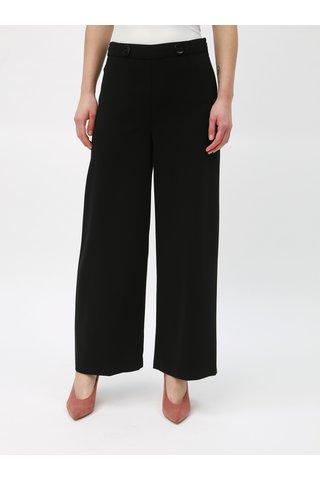 Černé široké kalhoty s vysokým pasem Dorothy Perkins