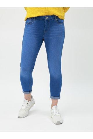 Modré zkrácené skinny džíny Dorothy Perkins Petite Harper