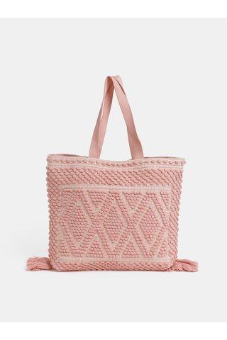 Růžová plážová taška Dorothy Perkins