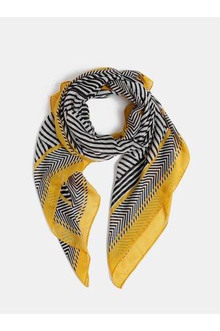 Žluto-černý pruhovaný šátek Dorothy Perkins