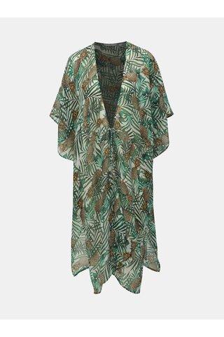 Zelený vzorovaný kaftan Dorothy Perkins