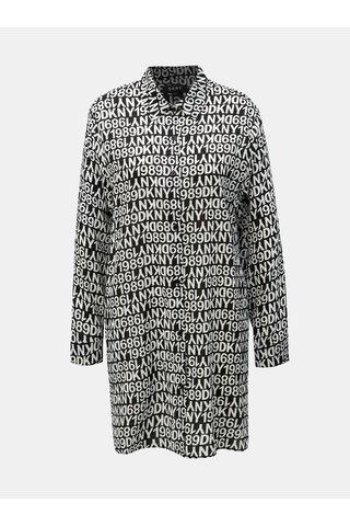 Bílo-černá vzorovaná noční košile DKNY