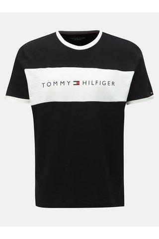 Černé pánské tričko s potiskem Tommy Hilfiger