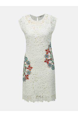 Bílé krajkové šaty Desigual Malpaso