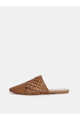 Hnědé kožené pantofle ALDO Rylyan