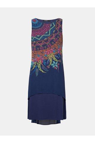 Tmavě modré vzorované šaty Desigual Adri