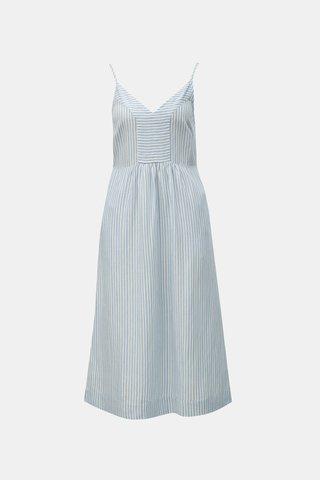 Modro-bílé pruhované šaty s příměsí lnu Tom Joule Zoey