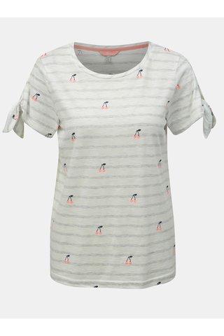 Bílé pruhované tričko s motivem třešní Tom Joule Tiggy