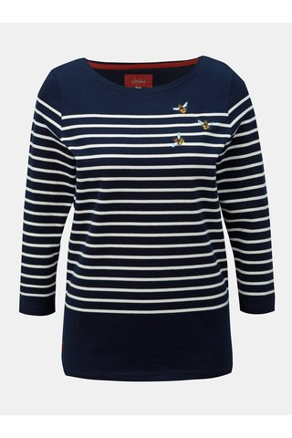 Tmavě modré pruhované tričko Tom Joule Harbour emb