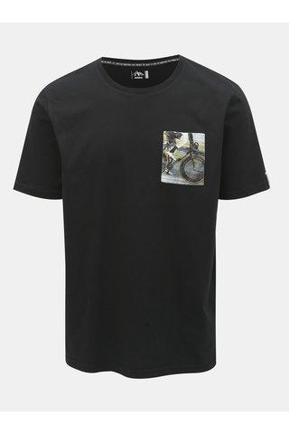 Černé pánské tričko s kapsou Maloja Flüs