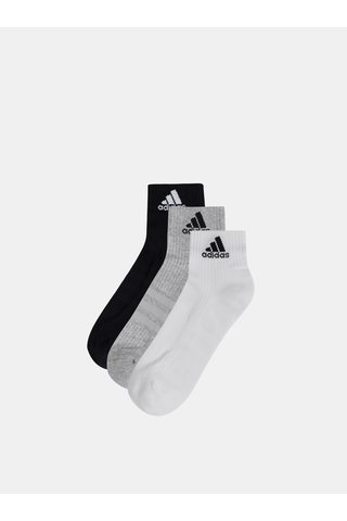 Sada tří párů ponožek v bílé, šedé a černé barvě adidas Performance