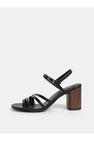 Černé kožené sandálky Vagabond Carol