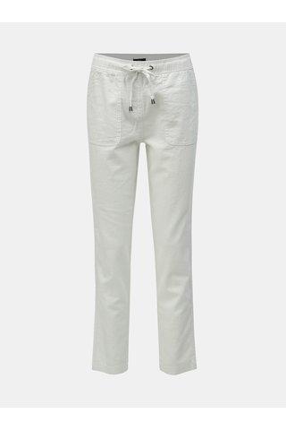 Bílé lněné kalhoty M&Co