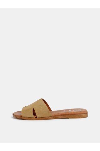 Hnědé semišové pantofle OJJU