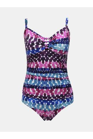 Fialové vzorované jednodílné plavky M&Co