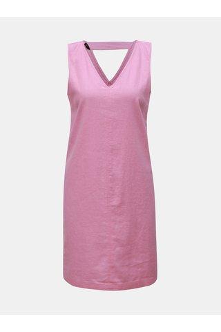 Růžové lněné šaty M&Co Petite