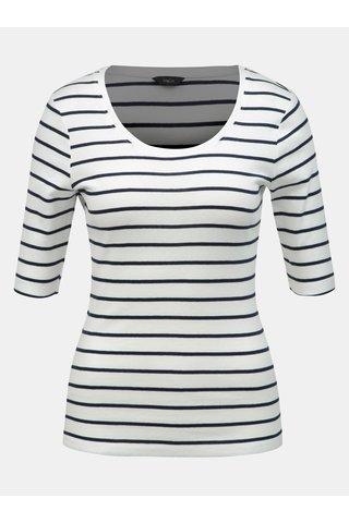 Bílé pruhované tričko M&Co