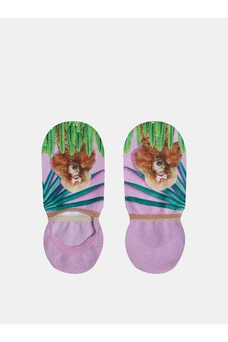 Světle fialové dámské vzorované ponožky XPOOOS