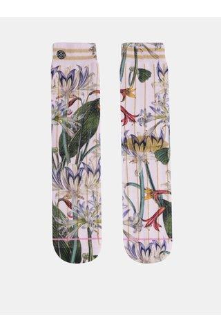 Světle růžové dámské květované ponožky XPOOOS