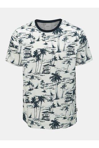 Bílé vzorované tričko Burton Menswear London