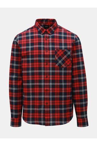 Červená kostkovaná košile Burton Menswear London