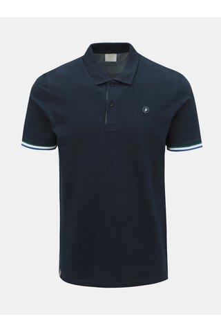 Tmavě modré slim fit polo tričko Jack & Jones Stan
