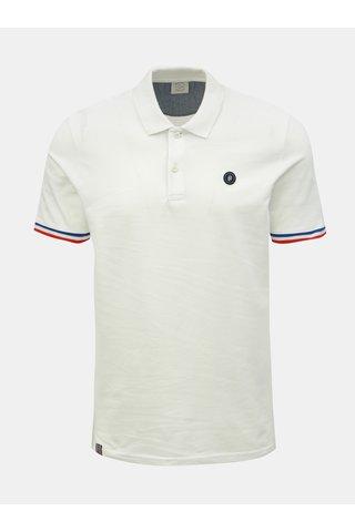 Bílé slim fit polo tričko Jack & Jones Stan