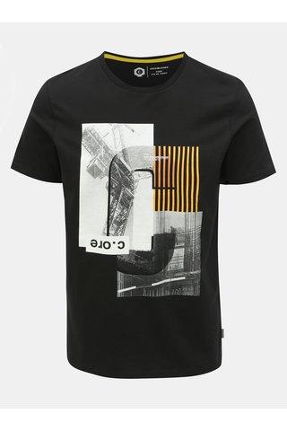 Černé slim fit tričko s potiskem Jack & Jones Will