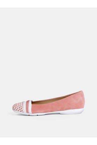 Růžové semišové baleríny Geox Annytah