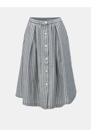 Modrá pruhovaná sukně Maloja Quadrella