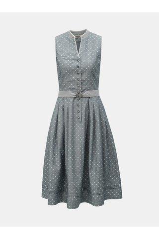 Šedé vzorované šaty s páskem Maloja Bella Mira
