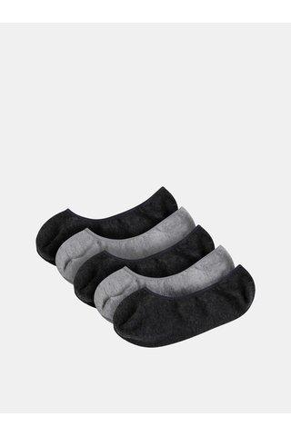 Sada pěti párů šedých ponožek Burton Menswear London