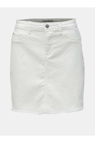 Bílá džínová minisukně s roztřepeným lemem Jacqueline de Yong Anica
