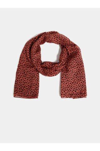 Červený šátek s leopardím vzorem Pieces Curie
