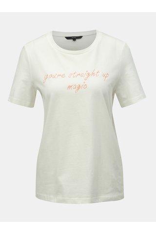 Bílé tričko s výšivkou VERO MODA Sarah
