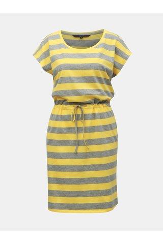 Šedo-žluté pruhované šaty VERO MODA April