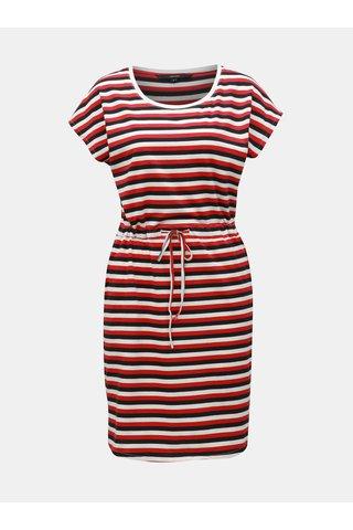 Bílo-červené pruhované šaty VERO MODA April