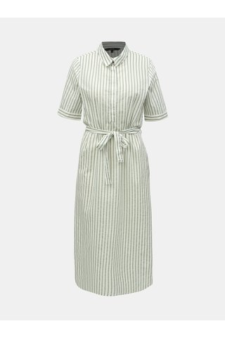 Zeleno-bílé pruhované košilové šaty VERO MODA Cassie