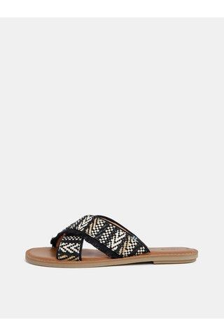 Černé dámské vzorované pantofle TOMS