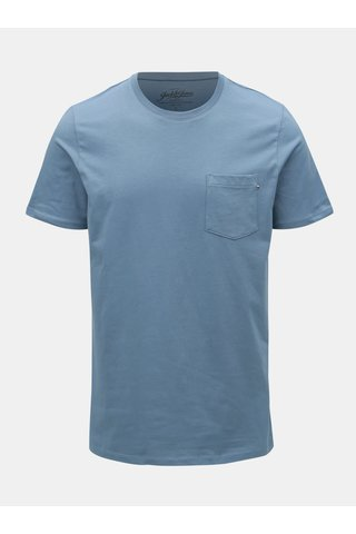 Modré slim fit tričko Jack & Jones