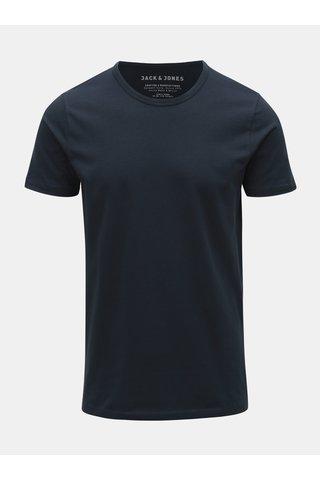 Modré basic tričko Jack & Jones