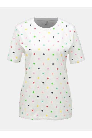 Bílé puntíkované tričko ONLY Dotti