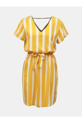 Bílo-žluté pruhované šaty ONLY Nova