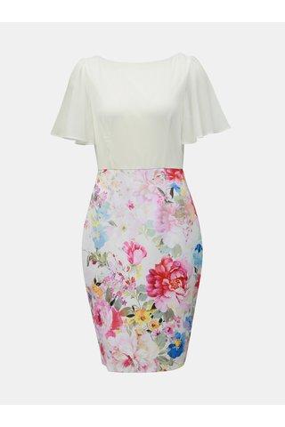 Bílo-růžové květované pouzdrové šaty Dorothy Perkins