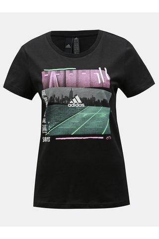 Černé dámské tričko s potiskem adidas Performance