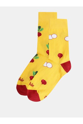 Žluté vzorované ponožky Fusakle Reďkvička