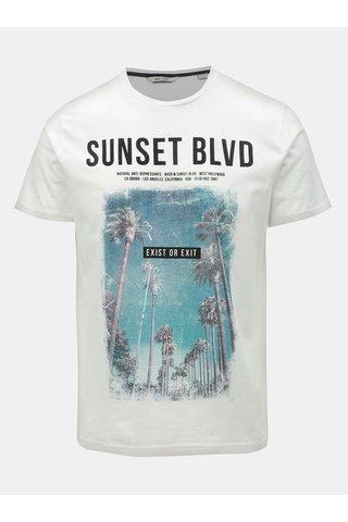 Bílé tričko s potiskem ONLY & SONS Lamani