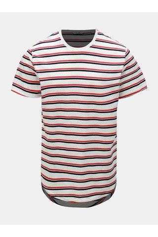 Červeno-bílé pruhované tričko ONLY & SONS Pacifica